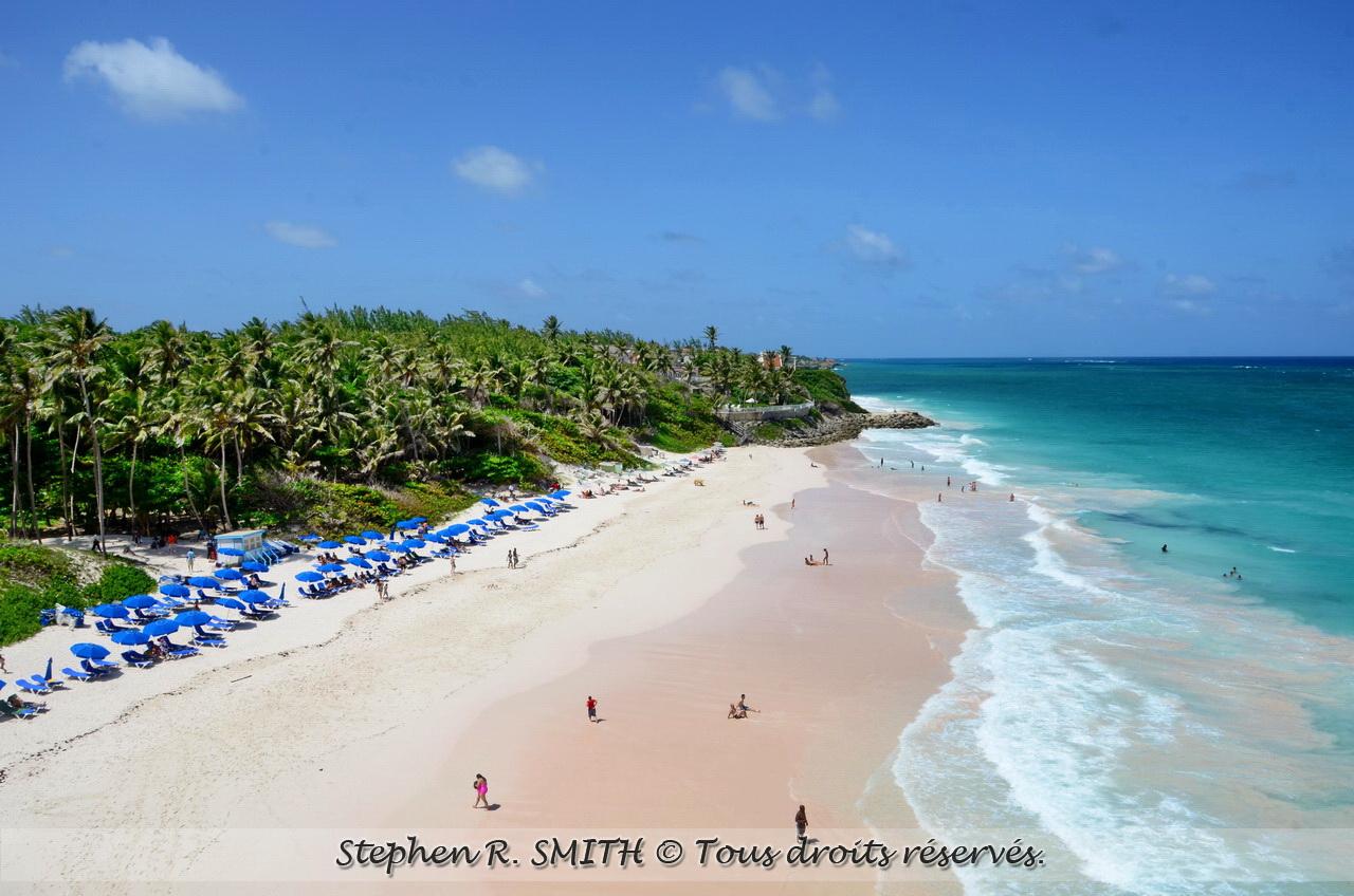 Crane Beach - plage à visiter à la Barbade